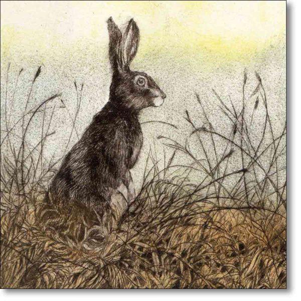 Greeting card of 'Sentry' by Sarah Bays