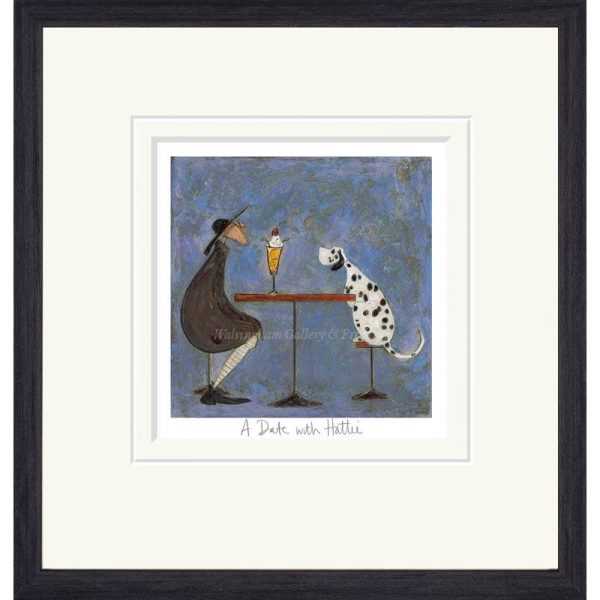 Framed limited edition print 'A Date with Hattie' by Sam Toft