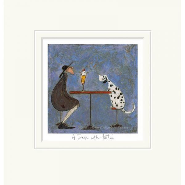 Mounted limited edition print 'A Date with Hattie' by Sam Toft