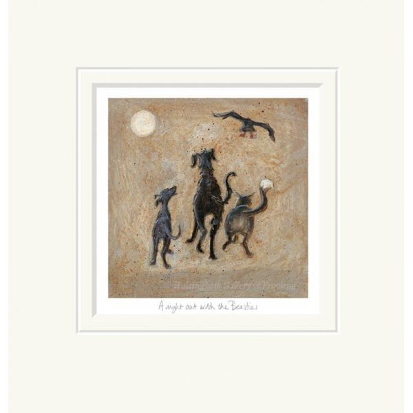 Mounted limited edition print 'A Nighy out with the Beasties' by Sam Toft