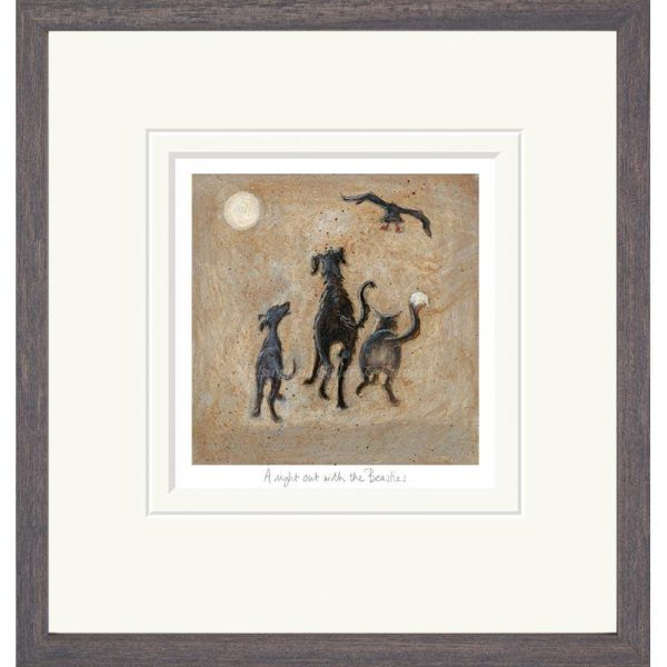 Framed limited edition print 'A Night Out with the Beasties' by Sam Toft