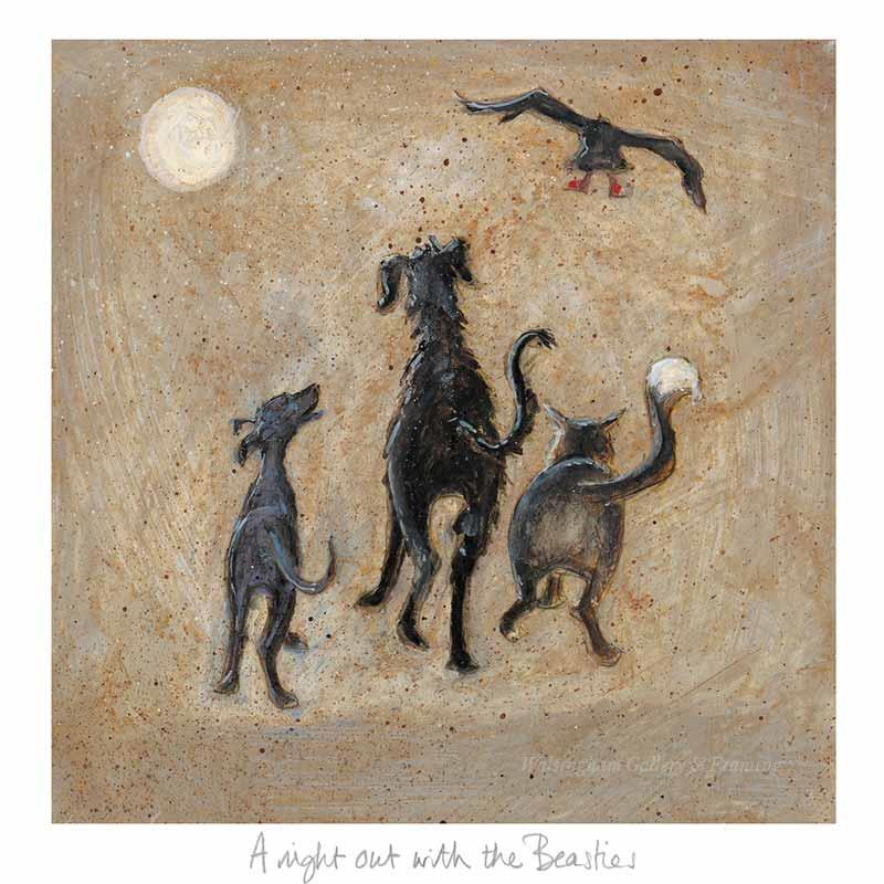 Limited edition print 'A Night out with the Beasties' by Sam Toft