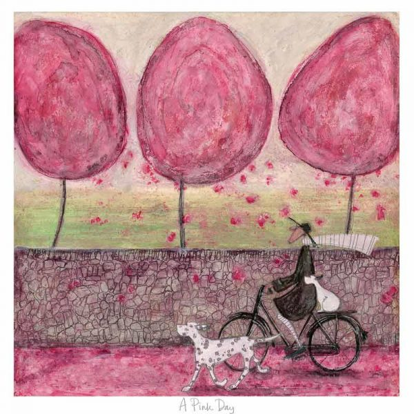 Limited edition print 'A Pink Day' by Sam Toft