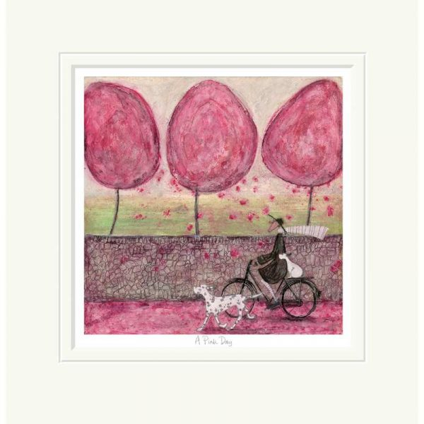 Mounted limited edition print 'A Pink Day' by Sam Toft