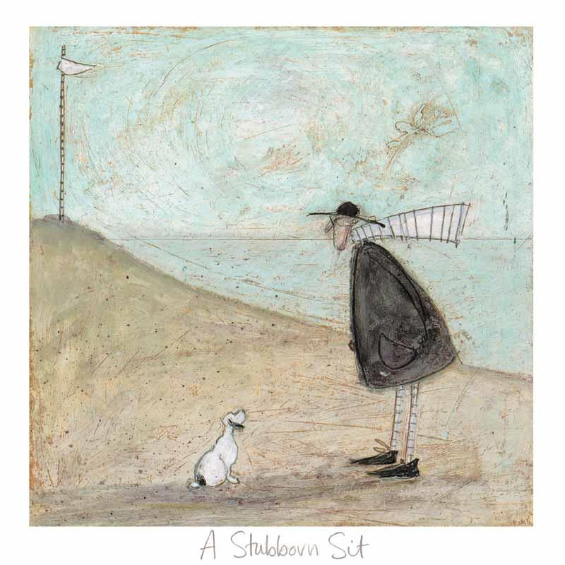 Limited edition print 'A Stubborn Sit' by Sam Toft