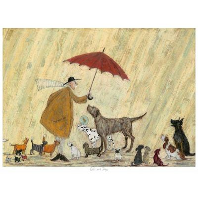 Limited edition print 'Cats and Dogs' by Sam Toft