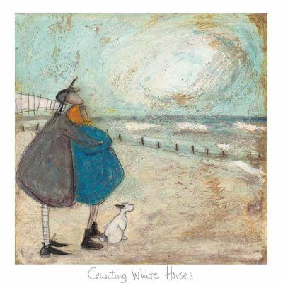 Limited edition print 'Counting White Horses' by Sam Toft