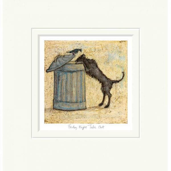 Mounted limited edtion print 'Friday Night Take Out' by Sam Toft