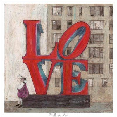 Limited edtion print 'It's All We Need' by Sam Toft