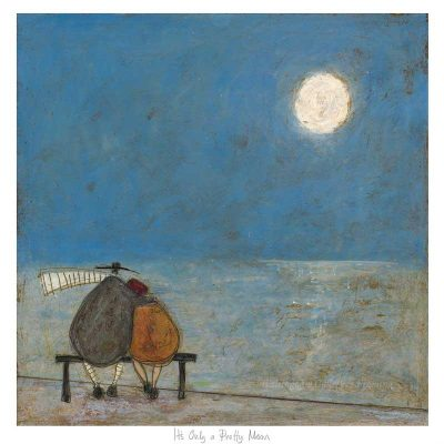 Limited edition print 'Its Only A Pretty Moon' by Sam Toft