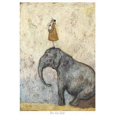 Limited edition print 'Nice View, That' by Sam Toft