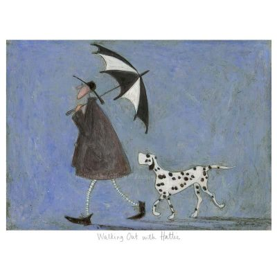 Limited edition print 'Walking Out with Hattie' by Sam Toft