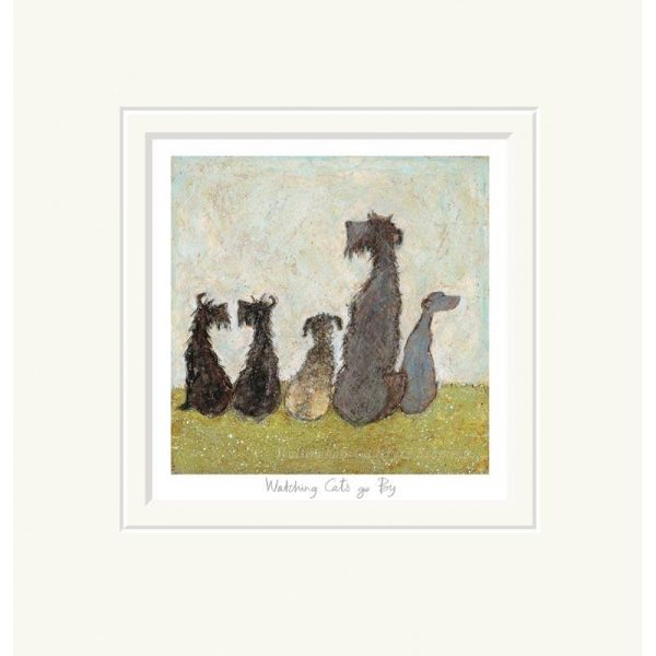 Mounted limited edition print 'Watching Cats go By' by Sam Toft