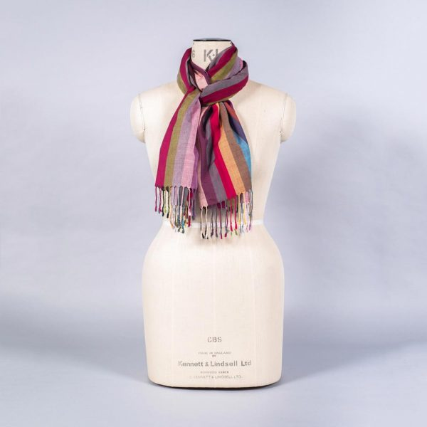 'Striped Wool Blend Scarf' by York Scarves