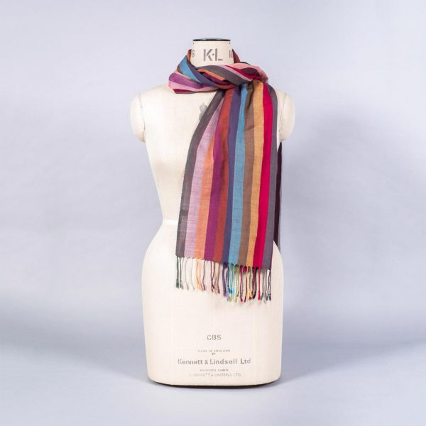 'Striped Wool Blend Scarf' by York Scarves, alternative view