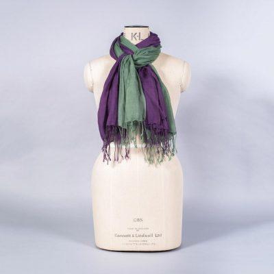 'Pashmina - Aubergine Green' by York Scarves