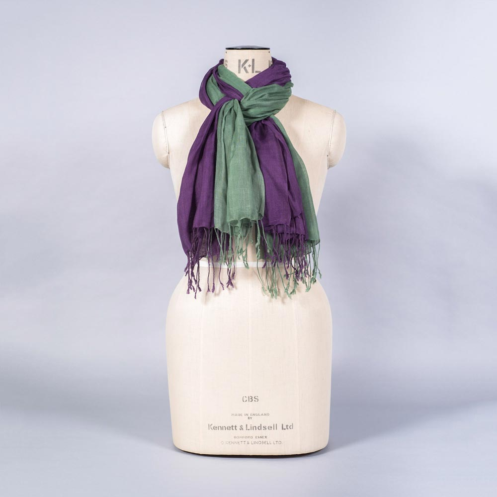 'Pashmina - Aubergine Green' by York Scarves