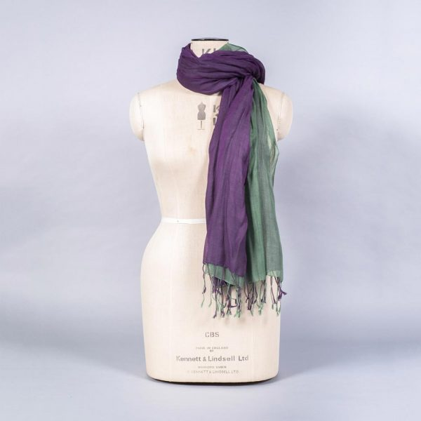 'Pashmina - Aubergine Green' by York Scarves, alternative view