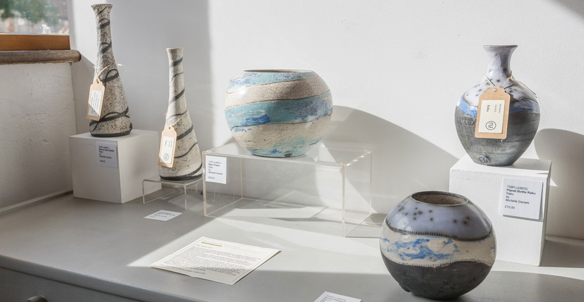 ceramics on display at Walsingham Gallery and Framing