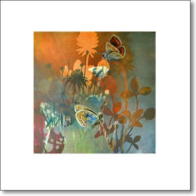 Greeting Card of 'Clover Meadow II' by Louise Bird