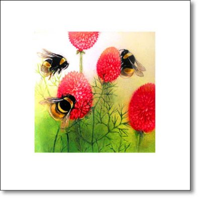 Greeting Card of 'Midsummer Garden' by Louise Bird