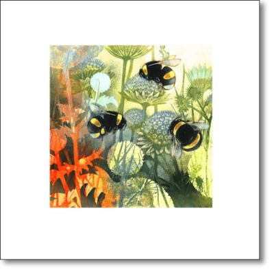 Greeting Card of 'Summer Border' by Louise Bird