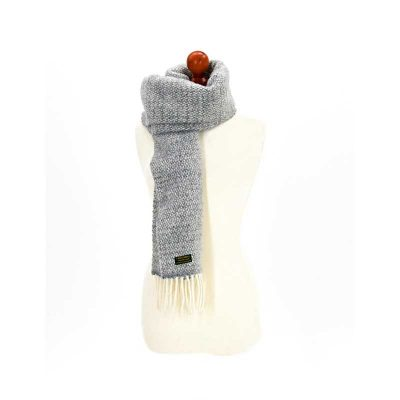 Grey illusion scarf by Tweedmill Textiles