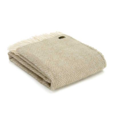 Oatmeal beehive throw by Tweedmill Textiles