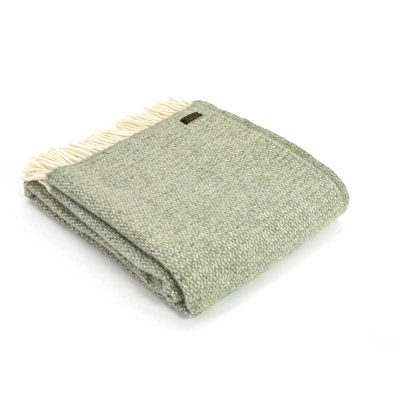 Green grey illusion throw by Tweedmill Textiles