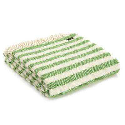 Apple sour stripe throw by Tweedmill Textiles