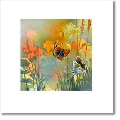 Greeting Card of 'Summer Meadow II' by Louise Bird
