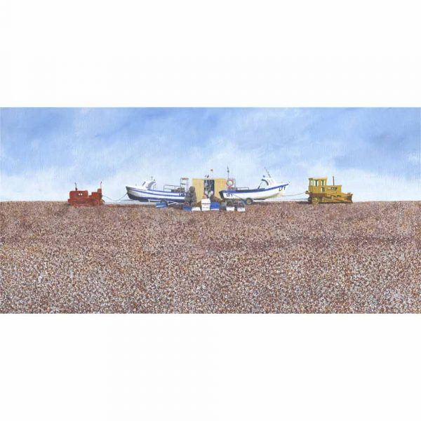 Limited edition print 'Cley Caterpillars' by Alan Godber