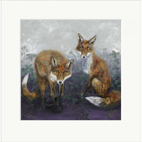 Mounted limited edition print 'Foxtails & Brambles' by Nicola Hart