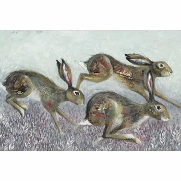 Limited edition print 'Hedge Springers' by Nicola Hart