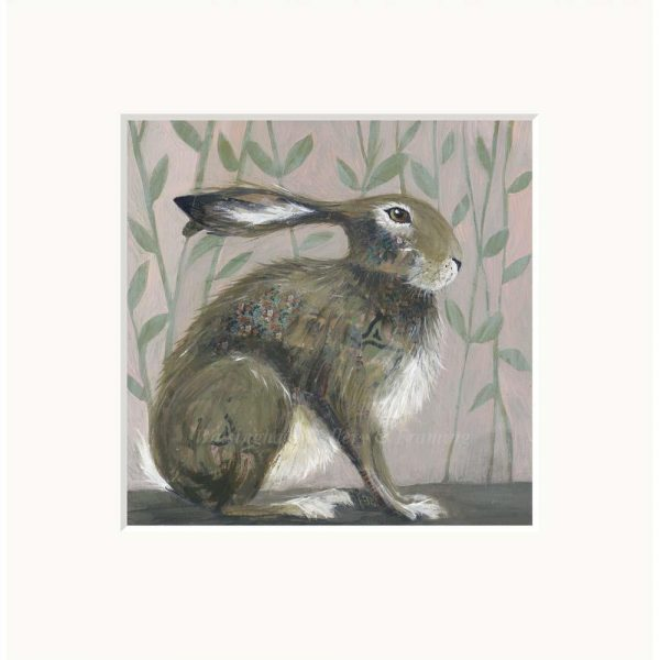 Mounted limited edition print 'Sit Tight' by Nicola Hart