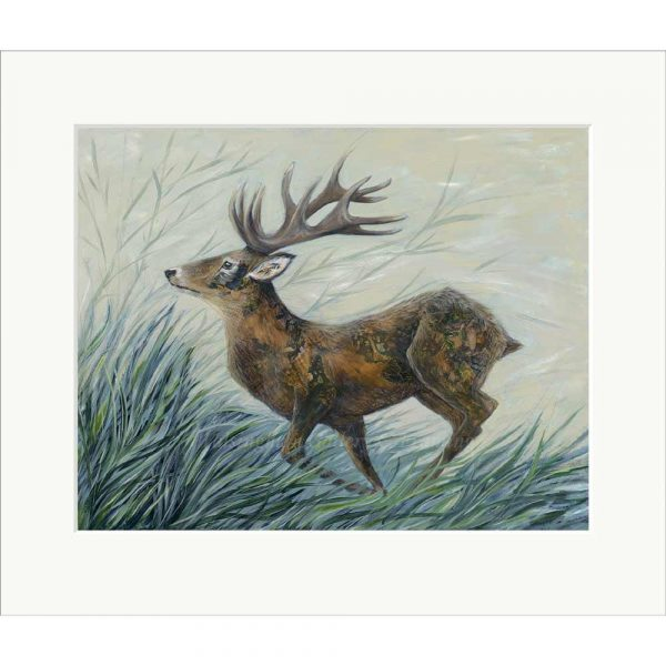 Mounted limited edition print 'Tattooed Hart' by Nicola Hart