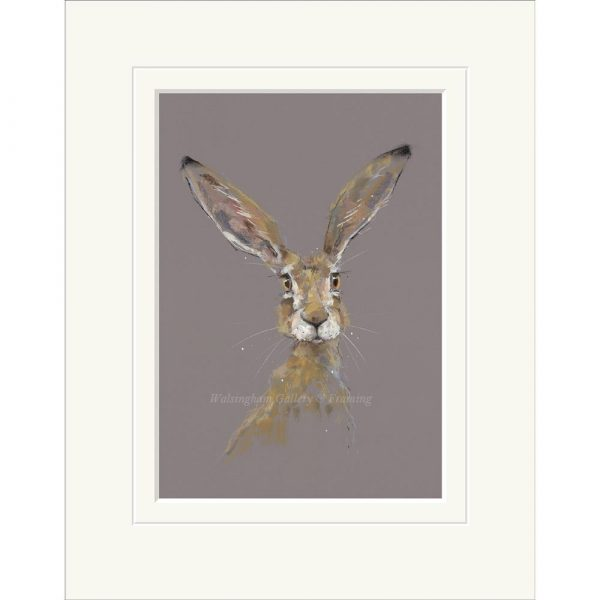 Mounted limited edition print 'All Ears' by Nicky Litchfield
