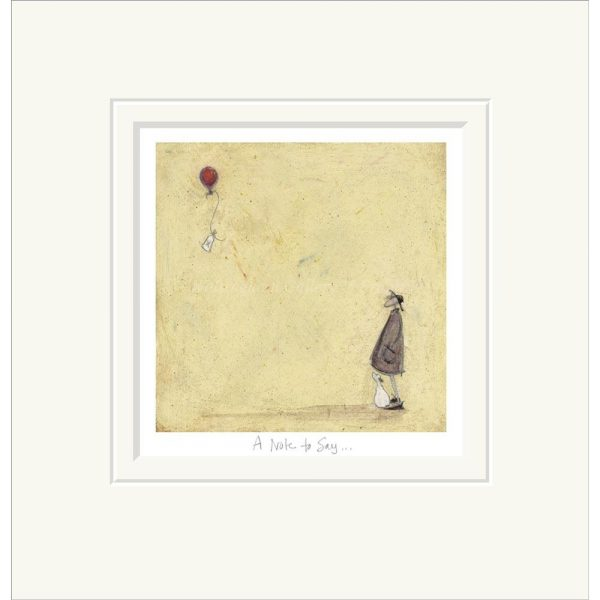 Mounted limited edition print 'A Note to Say ...' by Sam Toft