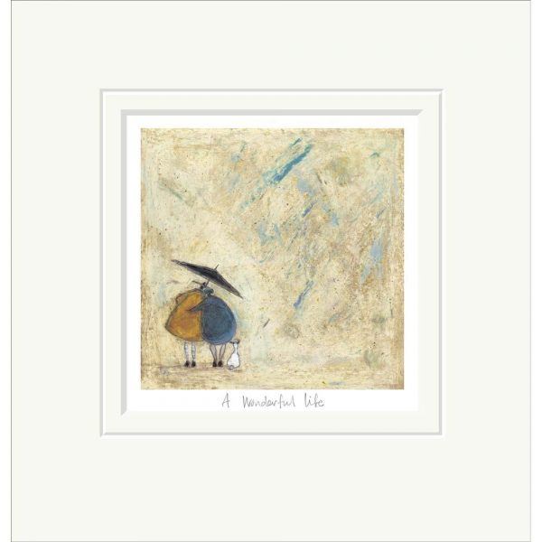 Mounted limited edition print 'A Wonderful Life' by Sam Toft