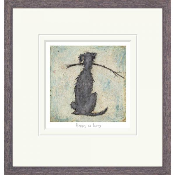 Framed limited edition print 'Happy as Larry' by Sam Toft