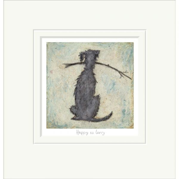 Mounted limited edition print 'Happy as Larry' by Sam Toft
