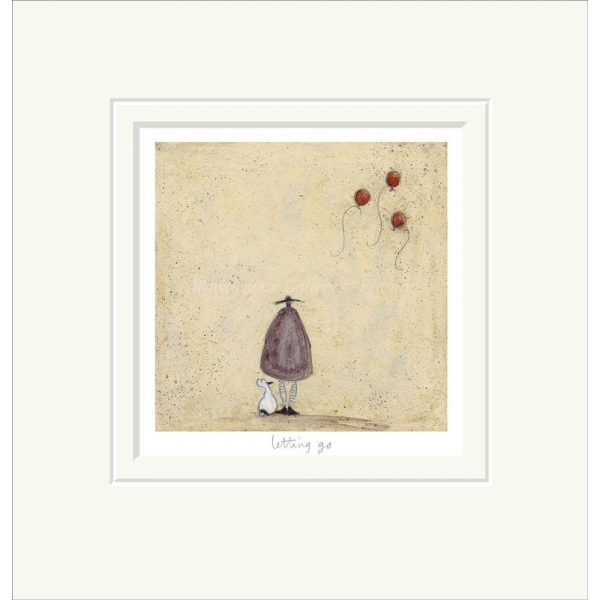Mounted limited edition print 'Letting Go' by Sam Toft