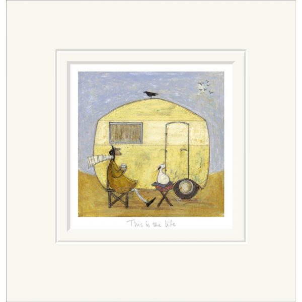 Mounted limited edition print 'This is the Life' by Sam Toft