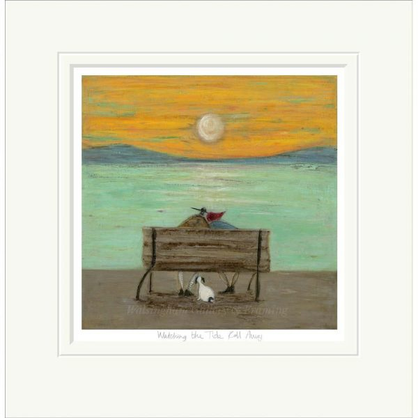 Mounted limited edition print 'Watching the Tide Roll Away' by Sam Toft