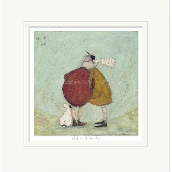 Mounted limited edition print 'We Have All We Need' by Sam Toft