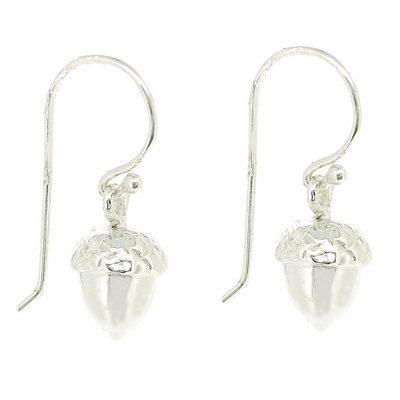 Sterling silver acorn drop earrings