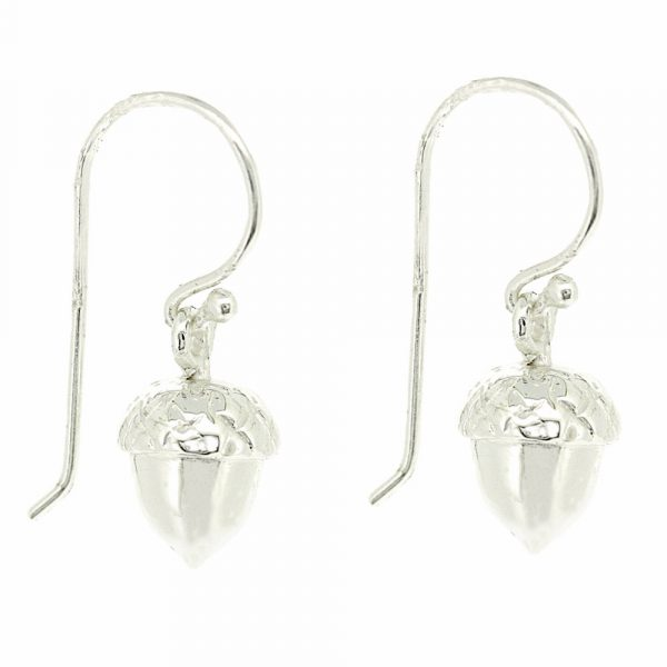 Sterling silver acorn drop earrings