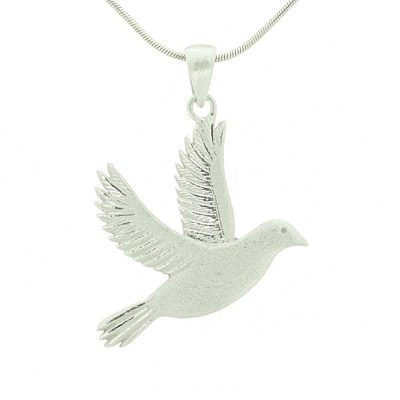 Sterling silver dove pendant