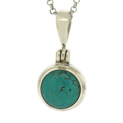 Turquoise round pendant