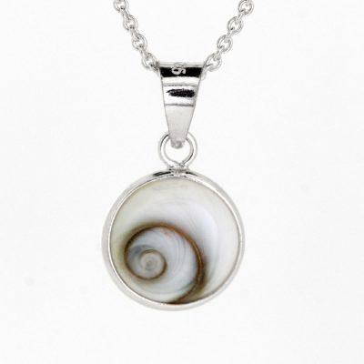 Shiva's eye small round pendant